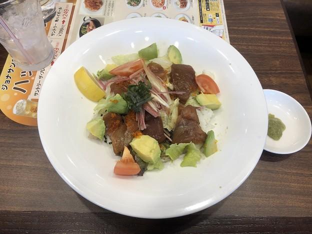 焼津港漬けまぐろとアボカドのサラダごはん
