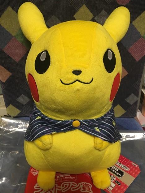 一番くじ Pokémon Textile Design ラストワン賞 ピカチュウのぬいぐるみ~ブランケットスタイル~ラストワンver.