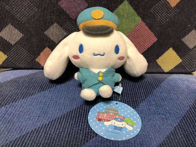 シナモロール in 東京キャラクターストリート 丸の内駅長さんシリーズ ボールチェーンマスコット