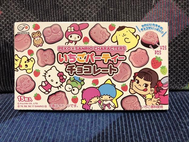 PEKO X SANRIO CHARACTERS いちごパーティーチョコレート