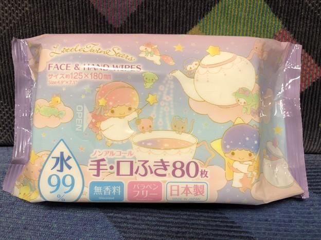 リトルツインスターズ ノンアルコール 手・口ふき80枚