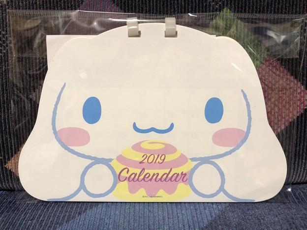 シナモロール フェイス形リングカレンダー 2019