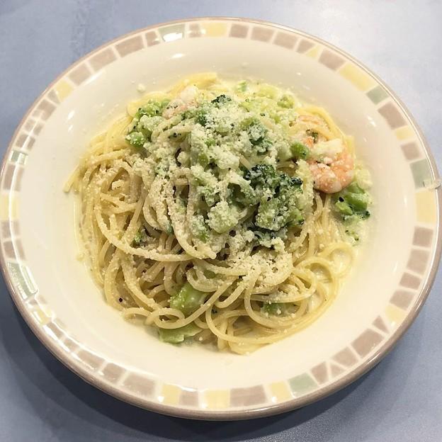 ブロッコリーのクリームスパゲッティ
