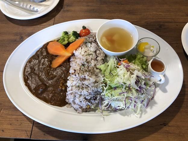 雑穀米のポークカレー