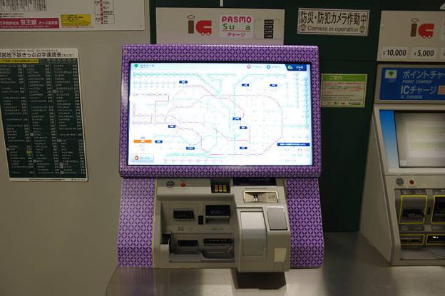 s2520_都営地下鉄自動券売機大型ディスプレイ_路線図表示_勝どき駅