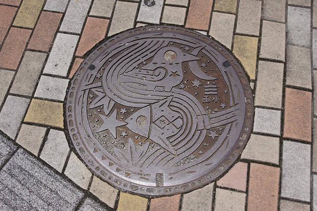 s9300_広島市マンホール_雨水_カラス柄