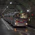 Photos: s7958_関電トロリーバス前面車窓_単線交換車両