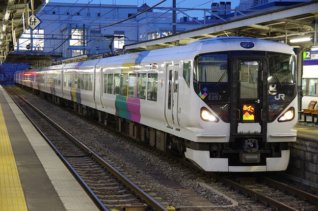 Photos: s8044_JR中央本線84M特急あずさ34号_クハE257-109他_あずさ表示_松本