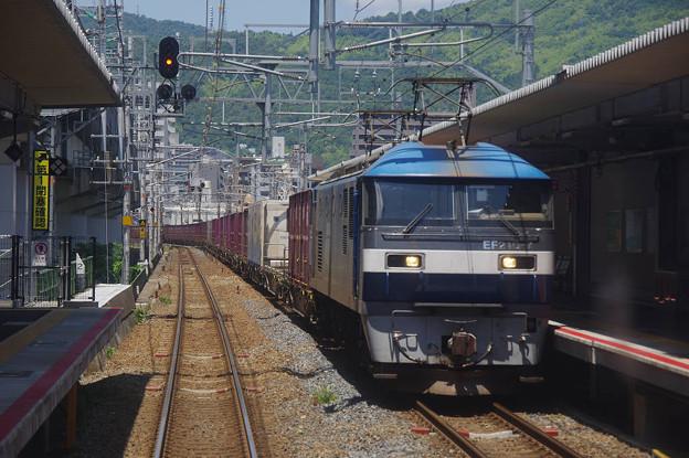 Photos: s9243_山陽本線前面車窓_EF210-7他_新白島