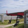 s1595_昇開橋西側のポイント操作レバーモニュメント