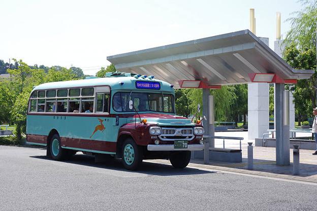 s2202_奈良交通ボンネットバス_幻の大仏鉄道120周年号_加茂駅東口