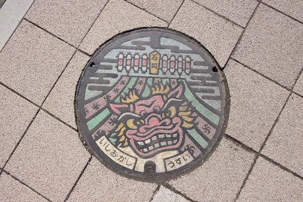 Photos: s6295_石岡市マンホール_うすい_カラー