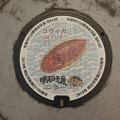 Photos: s8052_明石市マンホール_市制100周年_コウイカ