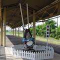 Photos: s8822_花巻鹿踊像_花巻駅東北本線ホーム
