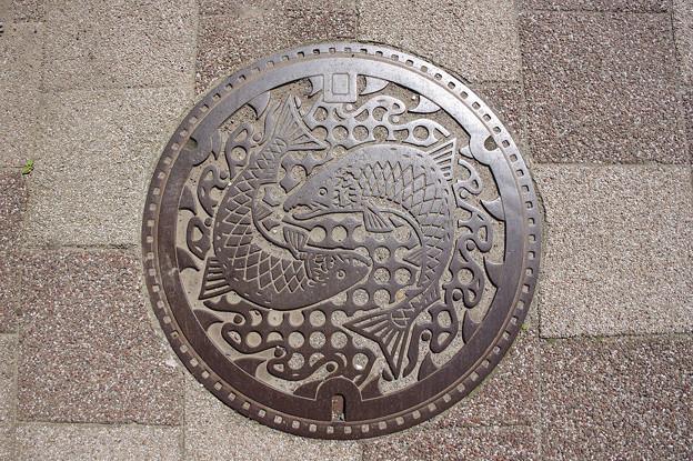 s9004_宮古市マンホール_サケ柄