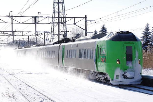 Photos: s5097_函館本線3013M特急ライラック13号_789系電車HE-104編成_奈井江_t