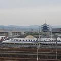 s2911_京都鉄道博物館_レストランからみえる新幹線N700A系