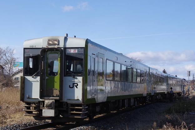 Photos: s5200_釜石線快速はまゆり3号_キハ110-1他_土沢駅東側_t