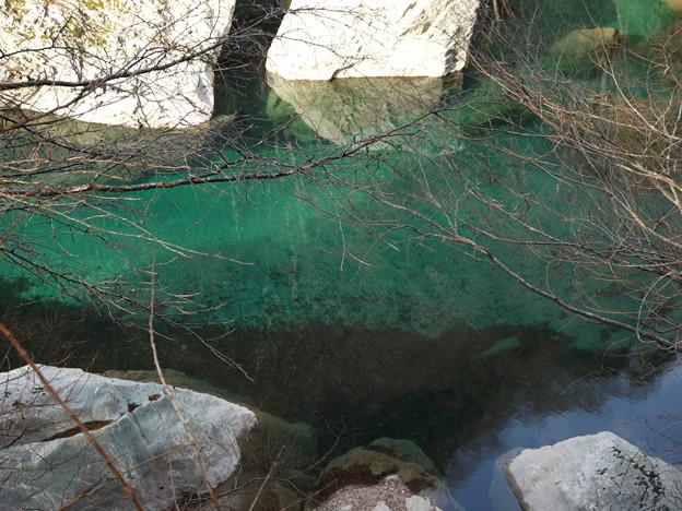 祖谷川の水はこんなに綺麗。