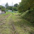 残った線路。