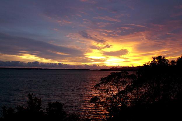 浜名湖の夕暮れ