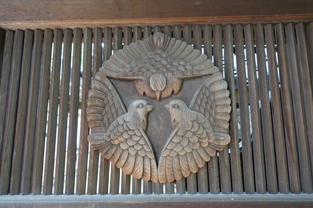 西教寺 寺紋三羽雀