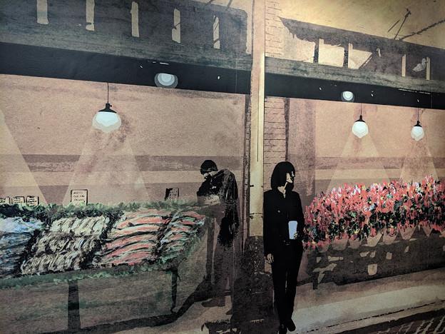 喫茶店の壁絵