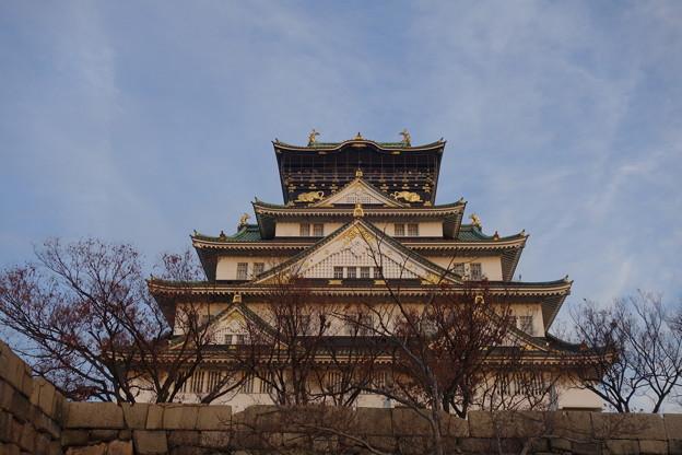 隠し曲輪からの大阪城