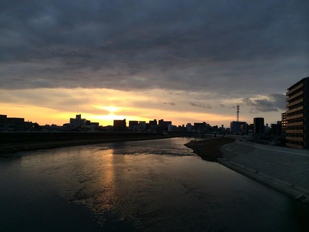 黒瀬橋から河口方面を望む