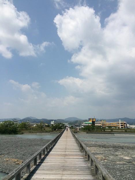 蓬莱橋から北側を望む