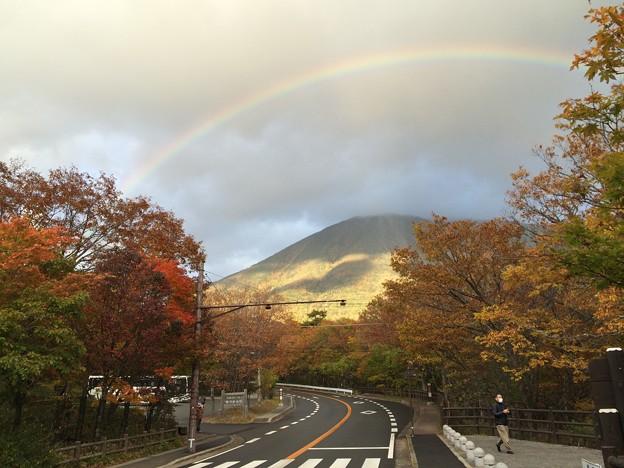 紅葉と虹4