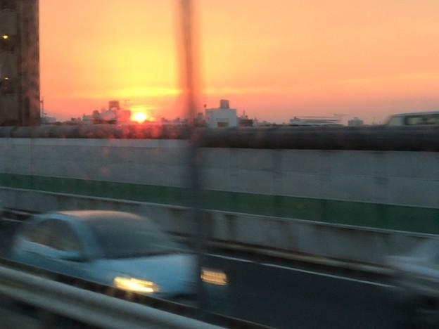 首都高からの夕焼け