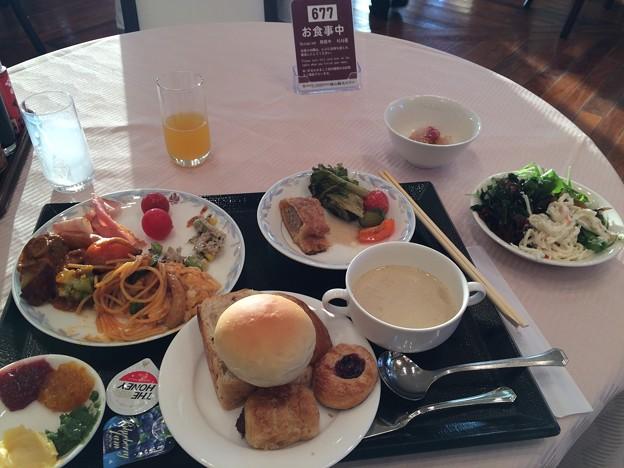 城山観光ホテルの朝食バイキング