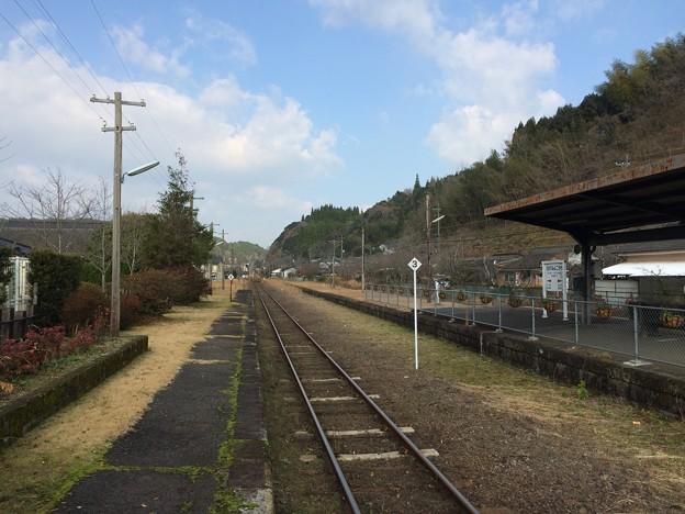 大角横川駅より吉松方面を望む