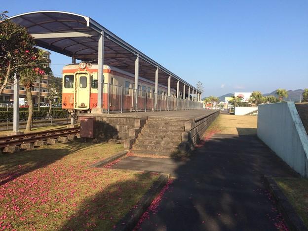 志布志鉄道公園内のディーゼルカー