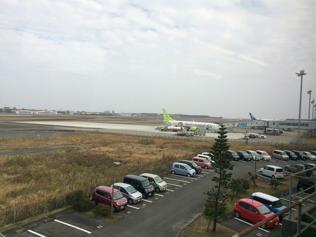 宮崎空港が見える
