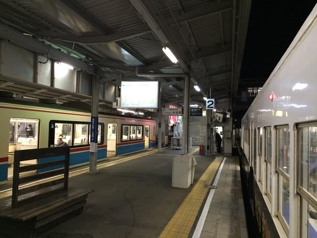 近江鉄道彦根駅ホーム