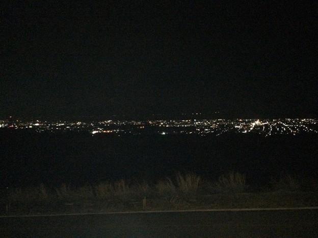 駿河湾沼津SAから眺める沼津市原の夜景
