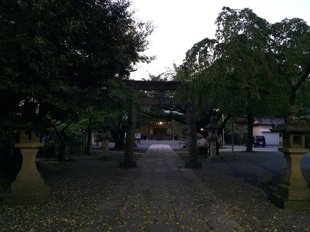 沼津市日枝神社 夕暮れ