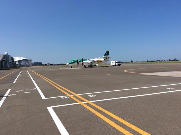 丘珠空港の小型飛行機