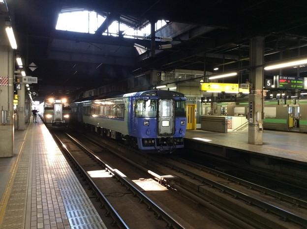 札幌駅に停車中の特急など