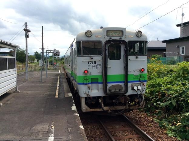 清水沢駅にて下車