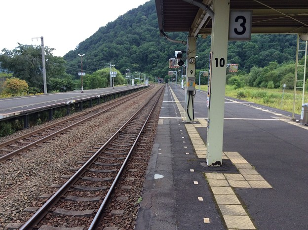 新夕張駅より南千歳・追分方面を望む