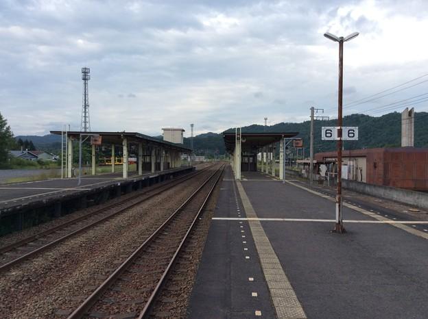 新夕張駅より新得方面を望む