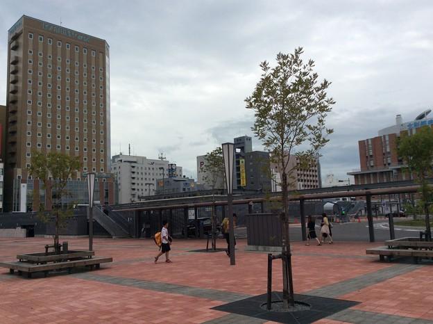 旭川駅北口の様子