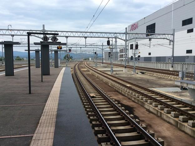 旭川駅より札幌方面を望む