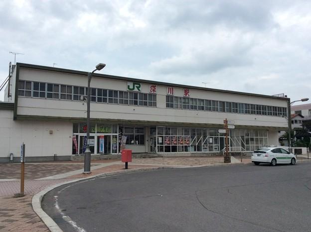 深川駅 駅舎