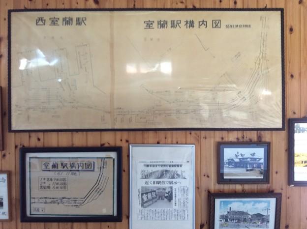 旧室蘭駅構内図