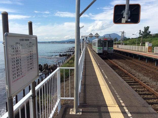 北舟岡駅13 ~列車と時刻表~