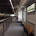 奥津軽いまべつ駅の狭いホーム